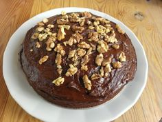 chocolate and walnut cake... don't tell anybody it's actually made of beetroot