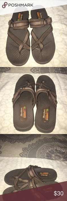 Skechers Sandals Very Comfortable Shoe for walking. Cushion insoles grip your feet. Barely worn. ‼️Make an offer‼️ Skechers Shoes Sandals