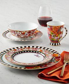 Lenox Dinnerware, Melli Mello Isabelle Floral Collection, Created for Macy's - Dinnerware - Dining & Entertaining - Macy's