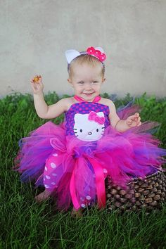 Boutique Hello Kitty Tutu Outfit|Hello Kitty Birthday Tutus|Hello