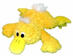 Patchwork Pet Pastel Yellow Platypus 15-Inch Squeak Toy for Dogs