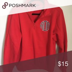 Alpha Omicron Pi quarter zip hoodie red quarter zip sorority hoodie! super cute and bright and fun alpha omicron pi Jackets & Coats