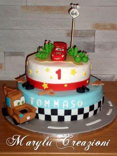 Torta Cars e Cricchetto in pasta di zucchero