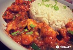 Sárkányfalatok China Food, Wok, Chana Masala, Tandoori Chicken, Meat Recipes, Chicken Wings, Bacon, Food And Drink, Rice