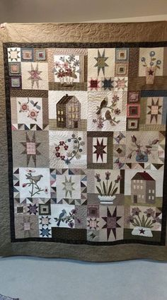 Sampler Quilts, Quilt Patterns, Quilting Ideas, Applique, Projects To Try, Embroidery, Wool, Blanket, Cool Stuff