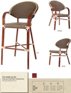 French Bistro Aluminum Rattan Chair Restaurant Supply Site