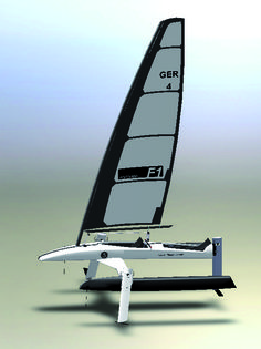 The catamaran hulls
