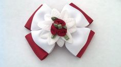 Red Rose Hairbow Formal Hairbow Red Hair by GloriaMillerCreation, $7.50