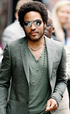 Is it the shades? Lenny Kravitz always looks like the coolest guy around!