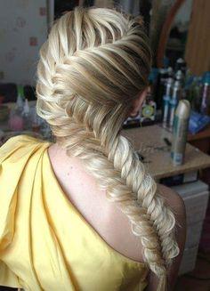 fonott frizurák - fonott frizura