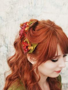 I would give anything to have curly hair. And orange red hair.