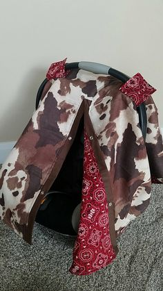Carseat Canopy Western Cowboy Cow Bandana Carseat Cover car seat canopy car seat cover by fashionfairytales on Etsy Western Baby Clothes, Western Babies, Bandana, Western Baby Nurseries, Cowboy Nursery, Western Nursery, Baby Boy Cowboy, Cute Babies, Baby Kids