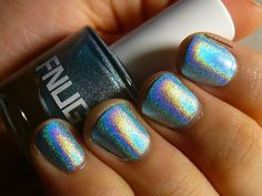 My Polish Adventures Gel Polish Manicure, Holographic Nail Polish, Mani Pedi, Pedicure, Beauty Nails, Beauty Makeup, Acrylic Gel, Psychedelic, Swatch