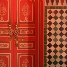 The many beautiful doors in Marrakech. #outtravel #righthererightnow
