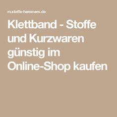 Klettband - Stoffe und Kurzwaren günstig im Online-Shop kaufen