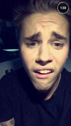 Justin's snapchat story