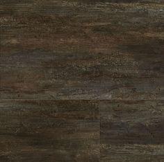 "Konecto Premium Tile 12"" x 24"" Luxury Vinyl Tile - Torcano, Again, like the dark brown tones with the charcoal. $3.99"