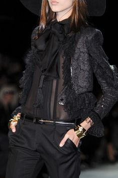 I like the jacket but not the rest. -Saint Laurent Spring 2013