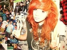 secretly love bright unnatural orange hair