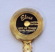 Collector Souvenir Spoon Elvis Presley Love Me Tender Limited Edition Graceland