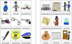 Dit woordweb in het thema politie kun je downloaden op de website van Juf Milou. School Bus Crafts, Police, Home Schooling, Preschool Activities, Disney Characters, Fictional Characters, Teaching, Kids, Projects