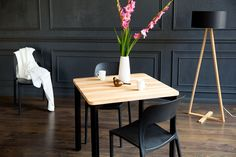Lampadar Tales Natural / Black #homedecor #interiordesign #inpiration #decoration #lamp #black livingroomdecor #modern #nordicstyle Nordic Style, Dining Table, Interior Design, Inpiration, Furniture, Black, Home Decor, Natural, Cords