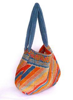 reversible vintage Kantha sari bag / hobo. $39.00, via Etsy.