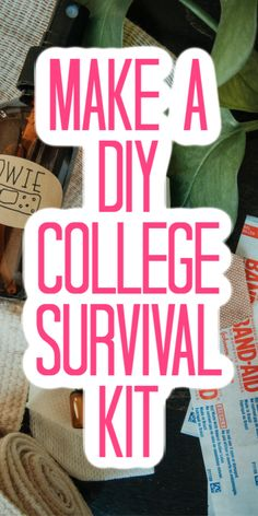 Add everything they need to survive the dorms into a kit! Easy to assemble and they will love it! Dollar Store Crafts, Crafts To Sell, Diy Crafts, Quick And Easy Crafts, Easy Diy, Diy For Teens, Diy For Kids, Diy Decorations Tutorial, Little Gifts For Him