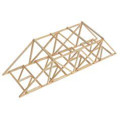 balsa wood bridge testing device at home N Scale Model Trains, Model Train Layouts, Steel Bridge, Wood Bridge, Bridge Model, Balsa Wood Models, Wood Truss, 30 Day Drawing Challenge, Small Log Cabin