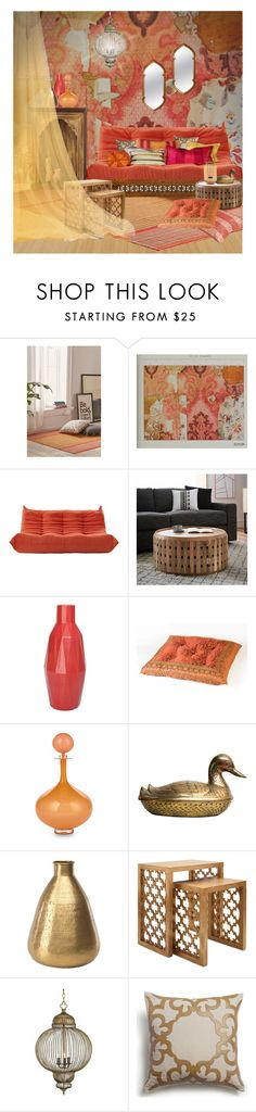 """Arabian Nights"" by ollie-and-me ❤ liked on Polyvore featuring interior, interiors, interior design, home, home decor, interior decorating, Urban Outfitters, La Barge, LexMod and West Elm"