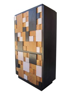 Brutalist Cabinet with Drawers by Lane image 3