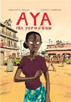 Om boka: Tegneserien AYA handler om ungdom i Elfenbenskysten på 1970-tallet.  Aya og venninnene hennes bor i arbeiderstrøket Yopougon i Abidjan. Aya vil bli lege, men venninnene hennes er mer opptatt av å feste og danse. De later som de lever i en såpeopera, og kaller byen sin for Yop City. Men en dag blir en av jentene gravid, og livet blir snudd på hodet. Critique, Lectures, Mood, Baseball Cards, Memes, Image, Shared Reading, Dance In, Livres