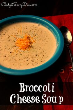 Broccoli Cheese Soup from SCRATCH! Beyond simple to make :) PIN PIN PIN!