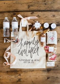 Take a look at the best destination wedding welcome bags in the photos below and get ideas for your wedding! Packing Your Destination wedding guests gift bags, OOT Welcome Bags: 5 Must-Haves and 5 Fun Items to Include Image source… Continue Reading → Wedding Welcome Gifts, Destination Wedding Welcome Bag, Wedding Gift Bags, Wedding Gifts For Guests, Wedding Favours, Destination Weddings, Wedding Welcome Baskets, Destination Wedding Inspiration, Party Gift Bags