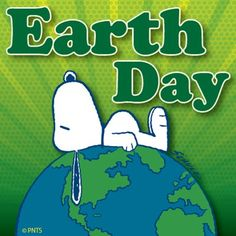 Every day is Earth Day! #Peanuts #Snoopy #Green