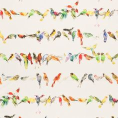 Birdsong fabric by Chivasso