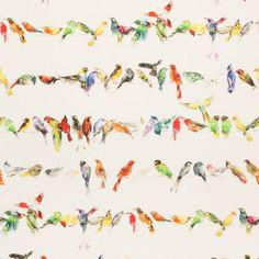 Spring Trend: Birds: Birdsong fabric by Chivasso