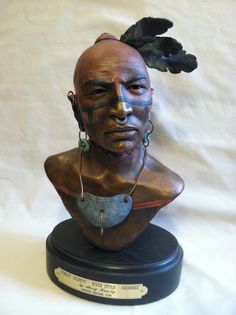 """Forest Secrets"" Cherokee bronze Native American Sculpture by Sherry Housley"