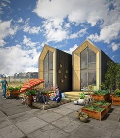 Heijmans ONE, a movable home that can be placed in any urban site in just one day.