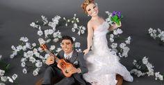 Os Noivinhos Do Estúdio De Modelagem Funsize Feitos Cerâmica  cakepins.com