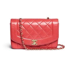 Vintage Chanel Classic quilted leather flap bag ($4,450) ❤ liked on Polyvore featuring bags, handbags, red, vintage handbags purses, flap handbags, chanel handbags, vintage purses and purse bag