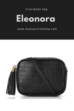 In Italian leather, a practical and very stylish crossbody bag with tassel detail. New Bag, Italian Leather, Cross Body Handbags, Crocodile, Tassels, Crossbody Bag, Colours, Purses, Detail
