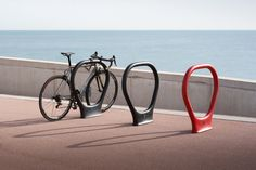 Superlock by Alex Fernández Camps for Durbanis #architonic #nowonarchitonic #interior #design #furniture #bicyclestand #stand #exterior #public #blackbikestand #redbikestand #bikestande #bicyclerack #superlockbikerack #bicycleparkingsystem Bicycle Stand, Bicycle Rack, Car Parking, Public, Exterior, Camping, Design, Campsite, Outdoors
