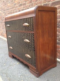 Art Deco Herringbone Waterfall Dresser In North Brookline Boston Ma Usa Krrb