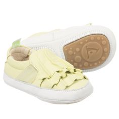 Lime Green Flamenky Trainers for Girl by Tip Toey Joey. Discover more beautiful designer Shoes for kids online at Childrensalon.co.