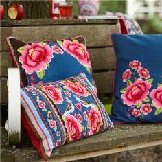 Four Flowers Denim Embroidered Pillow @Layla Grayce #laylagrayce #destinationinspiration #russia
