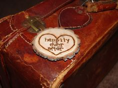 Happily Ever After Tree Slice Wood Burned by RefunkedJunkies, $6.00