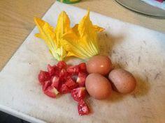 Omelette in preparazione