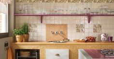 Ceramiche Marca Corona - Wall coverings for kitchen, Wall cladding for kitchen, Rustic mosaic, Mother-of-pearl majolica, Craftsmanship mosaic