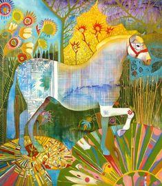 RENE ALVARADO, HORSE IN THE LILLY POND, ca. 2012, Jorge Mendez Gallery